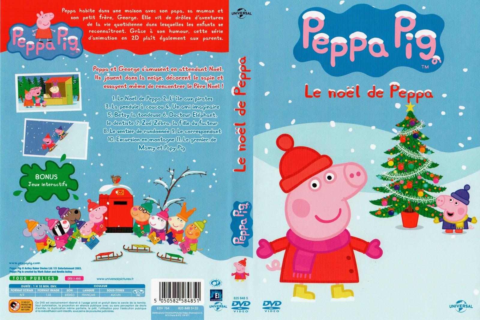 Jaquette dvd peppa pig no l de peppa - Peppa cochon noel ...