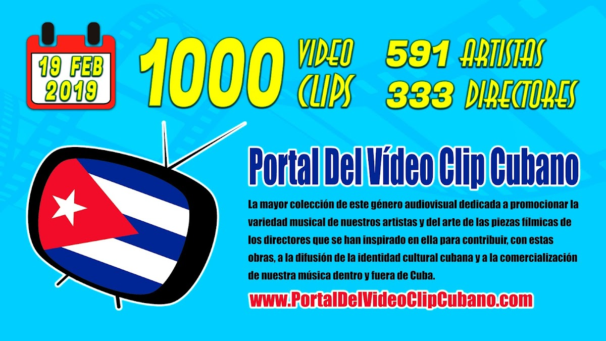 Estadísticas del Portal del Vídeo Clip Cubano