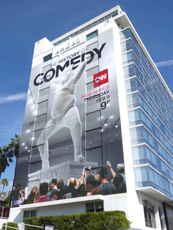 History of Comedy series premiere giant billboard