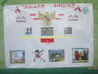 Lomba Majalah Dinding (Mading) HUT RI ke 71 MI Al Raudlah