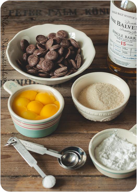 Zutaten für die Crème Pâtissière au Chocolat
