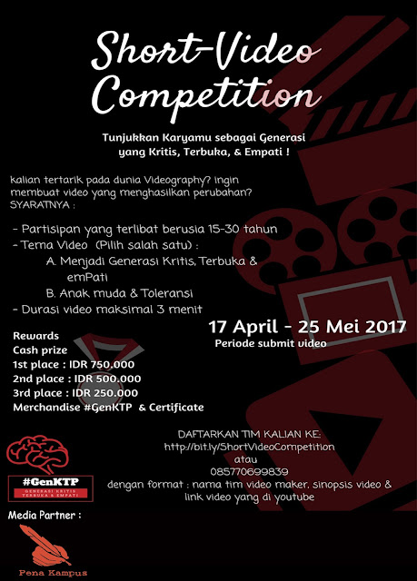 Short-video competition dari GenKTP!