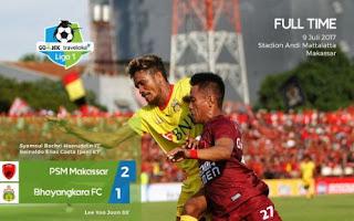 Kalahkan Bhayangkara FC, PSM Makassar Mantap di Puncak Klasemen #Liga 1