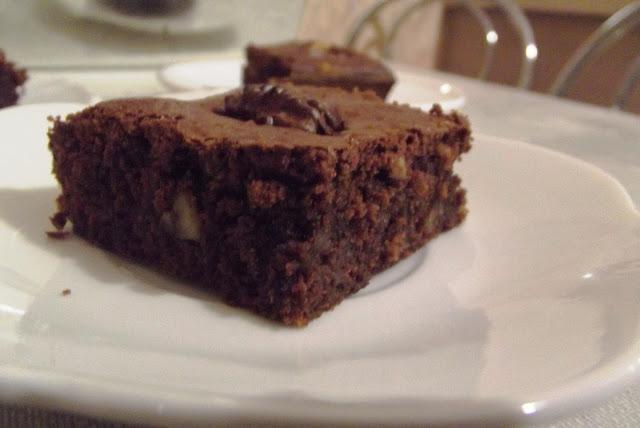 Kuchnia francuska #4 - Brownies aux noix de pécans - zdjęcia ciasta 2 - Francuski przy kawie