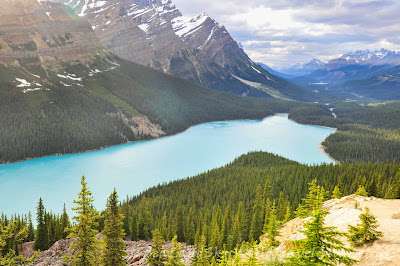 lake peyto, bow summit