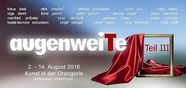 augenweiTe Kunstausstellung, August in der Orangerie, Schwetzingen Schlosspark, mit Olga David