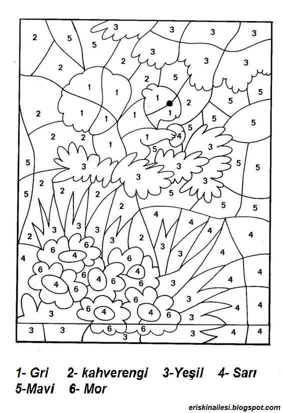 75 Okul öncesi 6 Rakam Boyama Yazdırılabilir Boyama Sayfaları