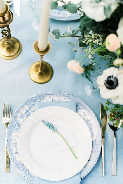 manteleria boda azul serenity