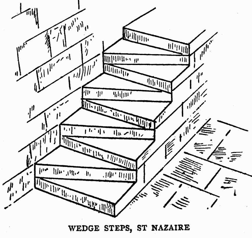 1320 wedge steps, St. Nazaire