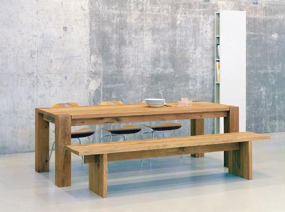 Banco en lugar de sillas de comedor - Bancas de madera para comedor ...
