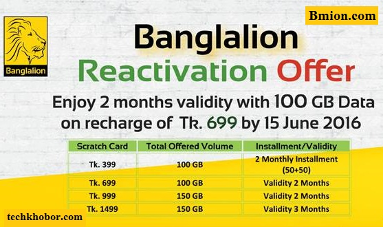 Banglalion-WiMAX-100GB/150GB-Data-Free-for-Upto-3Months-Validity-Prepaid-Reactivation-Offer-2016