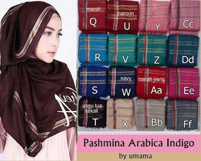 Model Jilbab Terbaru Pashmina Arabica