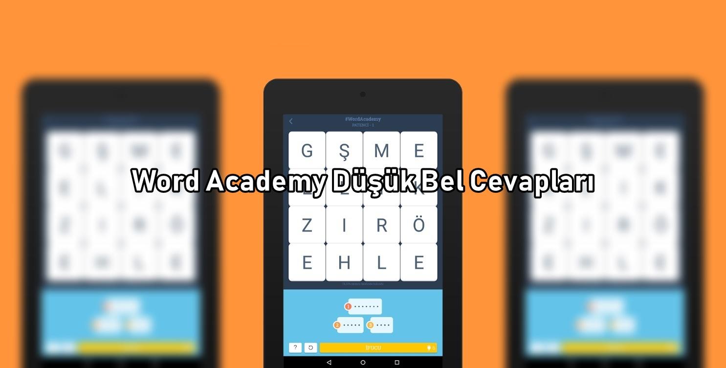 Word Academy Dusuk Bel Cevaplari