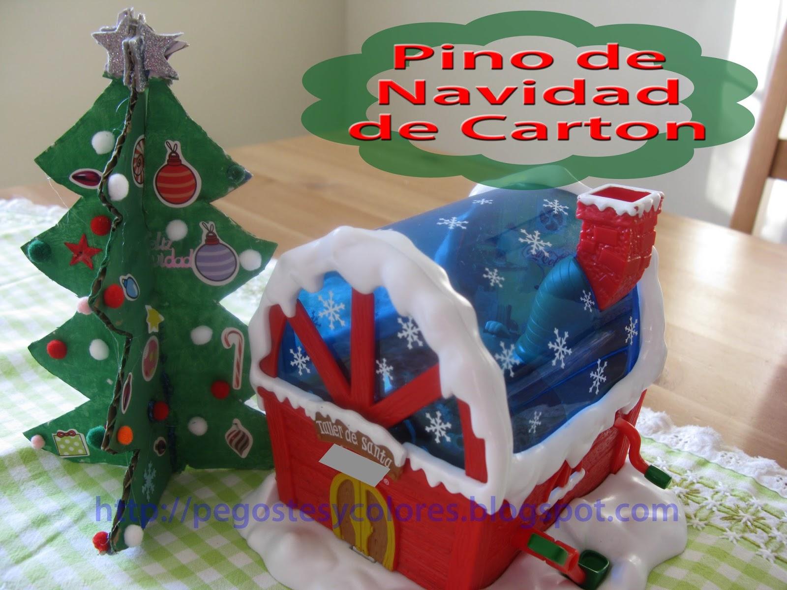 Pegostes y colores pino de navidad de carton - Como hacer cosas para navidad ...