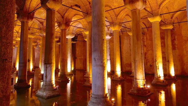 Cisterna de la Basilica - Estambul, Turquia