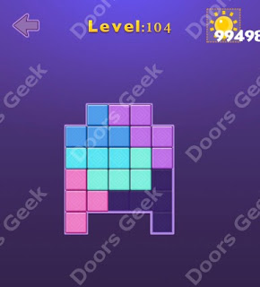 Cheats, Solutions, Walkthrough for Move Blocks Easy Level 104
