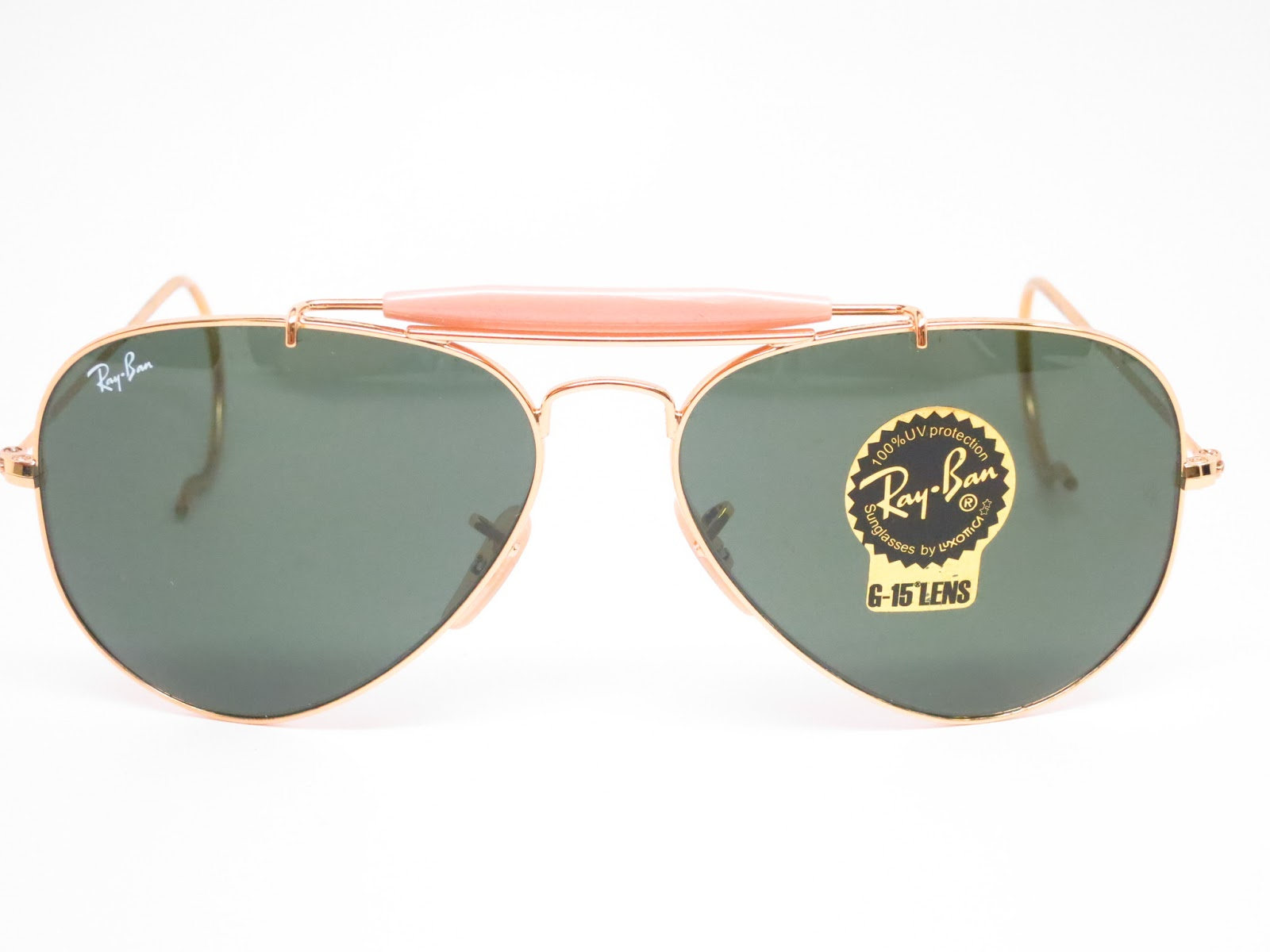 5930c7a3f9d ... outdoorsman new authentic sunglasses 96d1e 479e7  authentic l0207 gold  frames comes with g15 lenses the classic ray ban green grey glass lenses