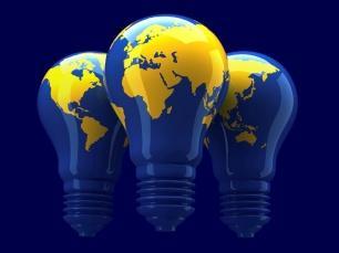 Imagen por el Día Mundial del Ahorro de Energía con focos