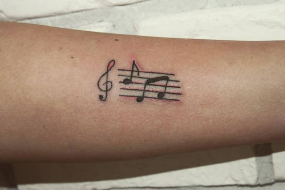 Music Play Pause Tattoo