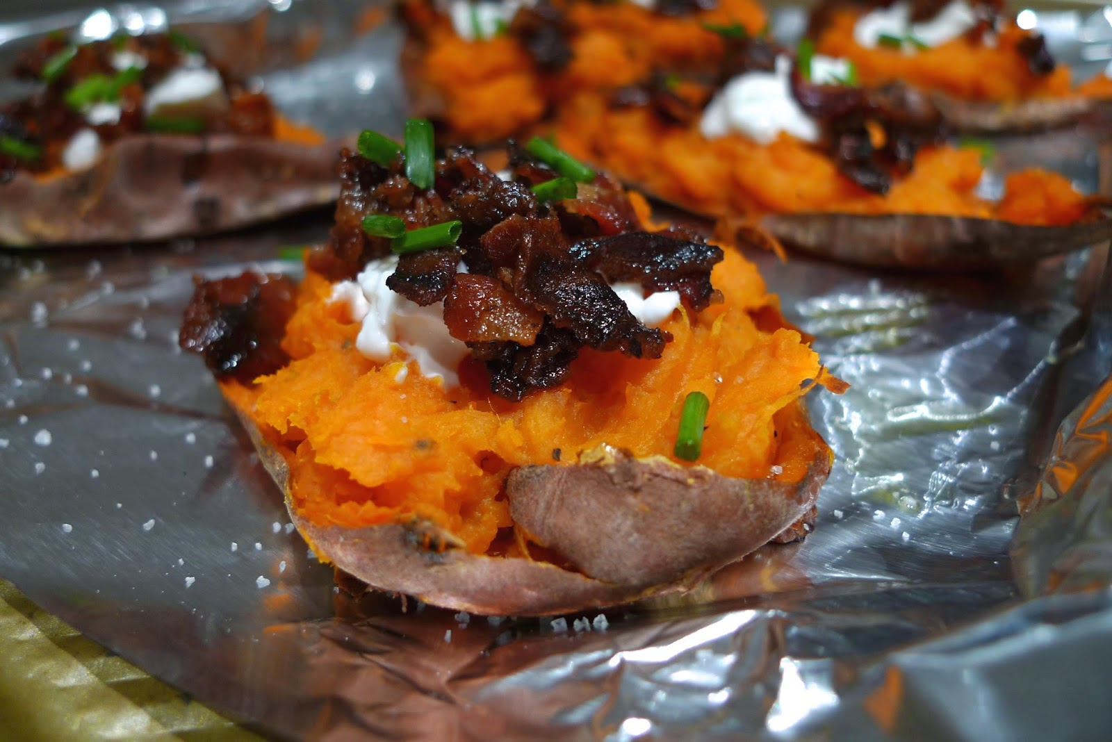 Siriously Delicious Baked Sweet Potato Skins