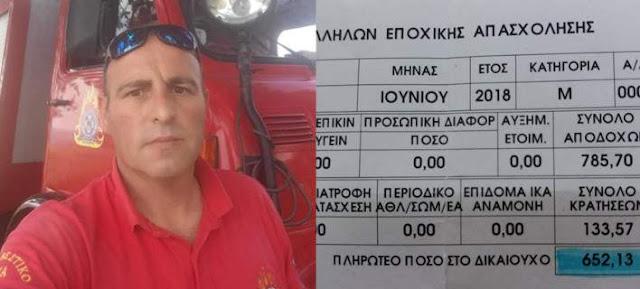 Συγκλονιστική ανάρτηση εποχικού πυροσβέστη: Ο μισθός είναι 692 ευρώ, αλλά θα αφήσω και την ψυχή μου- Προσφέρει το σπίτι του στους πληγέντες