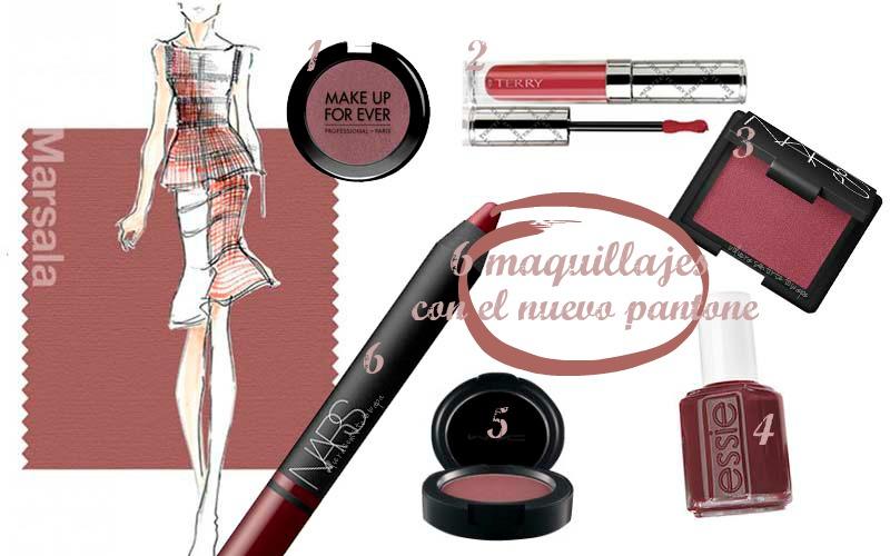 6 maquillajes del color Pantone 2015: Marsala