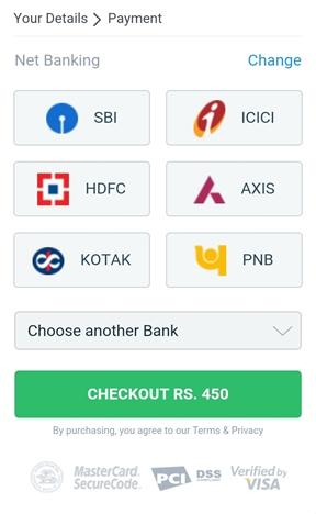 NET BANKING के द्वारा 100% सुरक्षित भुगतान करें
