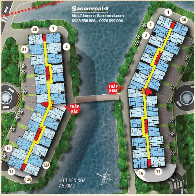 Mặt bằng sàn dự án căn hộ Jamona Apartment quận 7