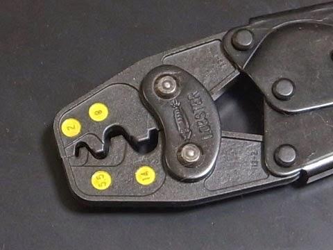 LOBSTER AK19A 圧着工具 ラチェットタイプで使い方もシンプルで解りやすい