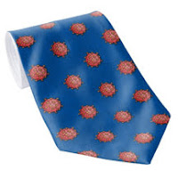 Cartoon Covid necktie on Zazzle
