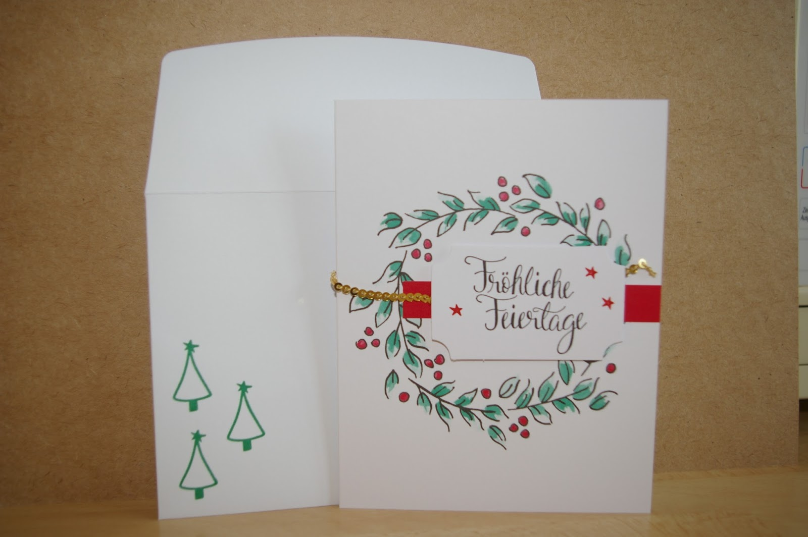 Großartig Edle Weihnachtskarten Basteln Das Beste Von Das Goldene Pailettenband Ist Wirklich Ein Edler