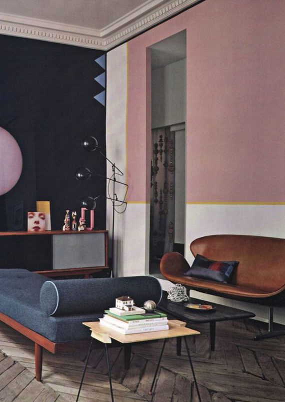 Dusty pink and blue color combination | Marie Claire Maison