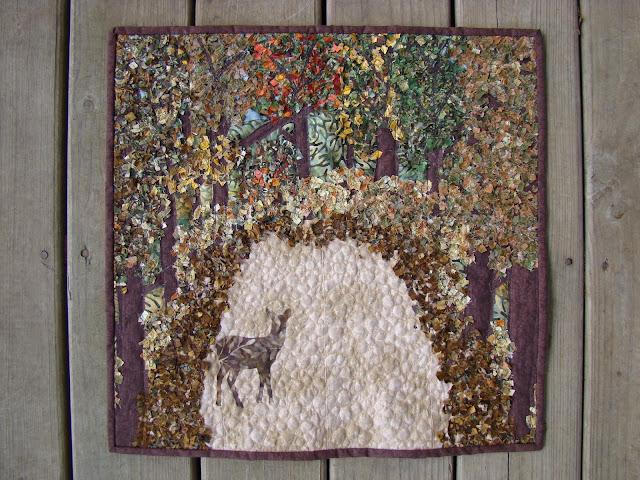 dear leaves art quilt
