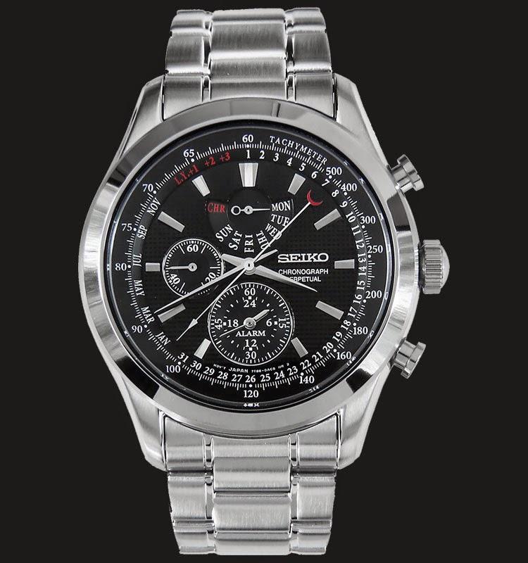 Seiko Chronograph SPC127P1 Neo Classic Alarm Perpetual