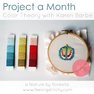 Project a Month 2 - Color Theory Class with Karen Barbe on Domestika as featured by floresita on Feeling Stitchy