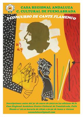 Cartel del concurso flamenco