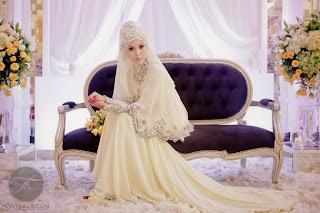 Hijab Pengantin Dengan Gaun Pengantin Muslimah Syari