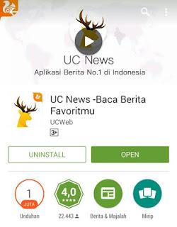 Buruan Ambil Uang 1 Juta dari UC News Terbaru Gratis