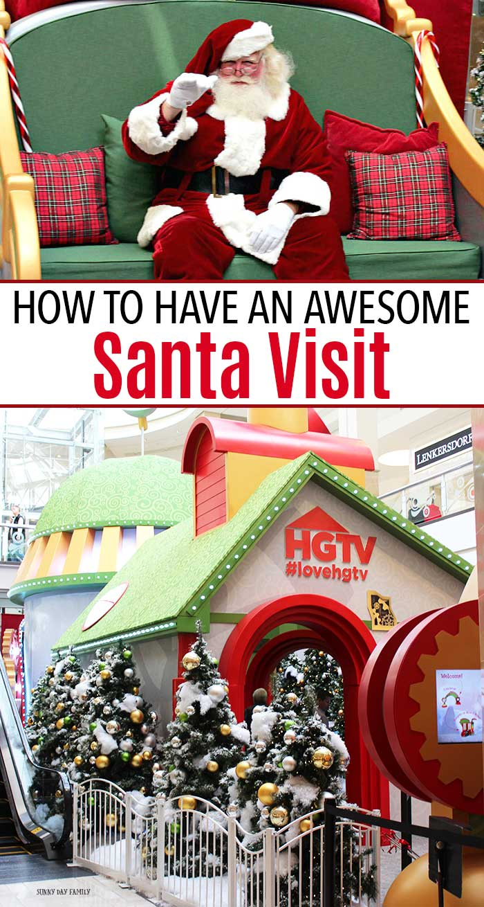 Have an awesome Santa visit this year when you take the family to HGTV's Santa HQ! #ad #santaphotos #santavisit #Christmasforkids