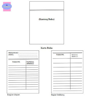 format kantong dan kartu buku perpustakaan