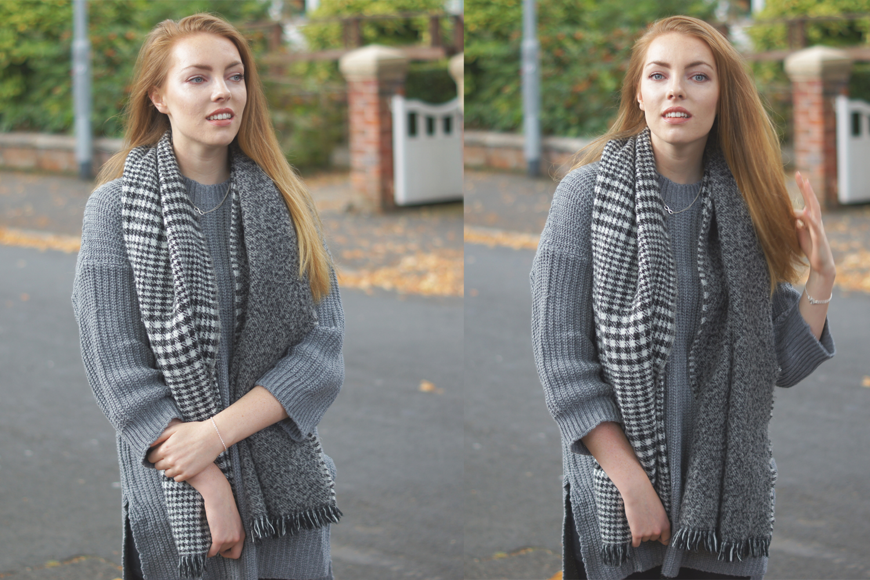 dogtooth scarf