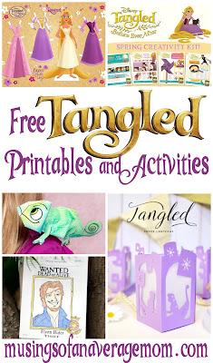 tangled printables
