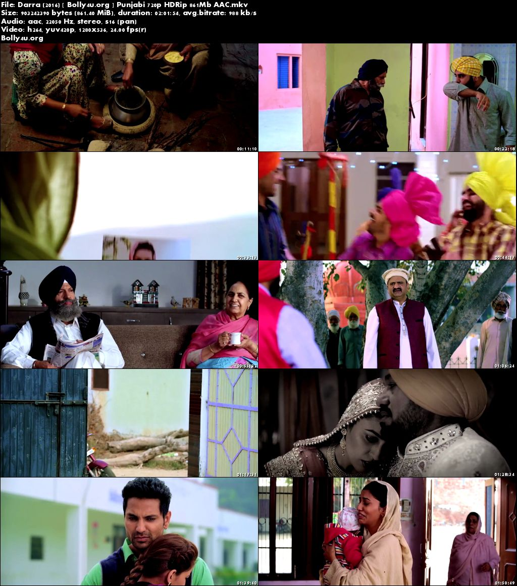 Darra 2016 HDRip 850MB Full Punjabi Movie Download 720p