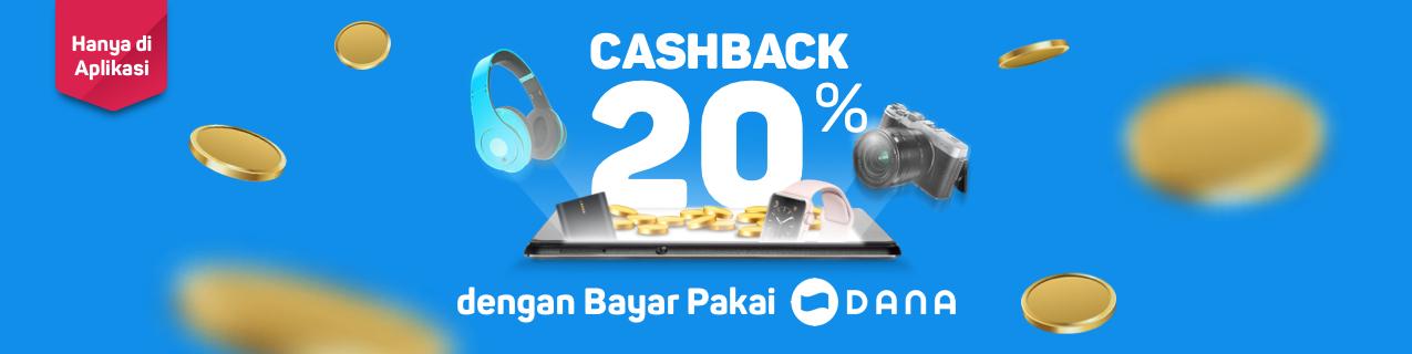 Bukalapak - Voucher Cashback 20% Bayar Pakai Dana (s.d 31 Agustus 2018)