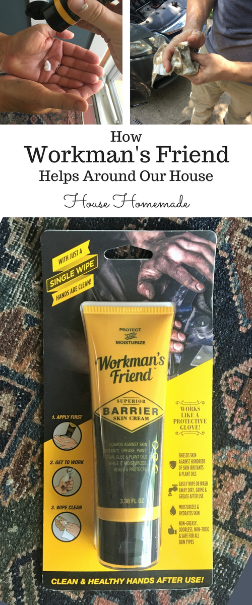 Workman's Friend Barrier Skin Cream on DIY projects and more