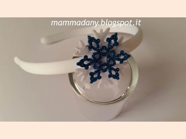 Cerchietti per capelli Frozen 2 cristallo di ghiaccio blu e bianco
