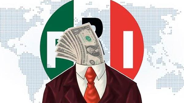 'PRI, en la lista de las instituciones más corruptas del mundo y la más corrupta en México