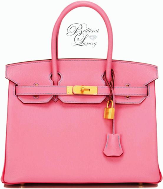 Brilliant Luxury ♦ Hermès Pink Bi Color So Horseshoe Rose Shocking Chevre Bag