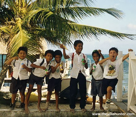 Ambergris Caye, Belize, school, boys