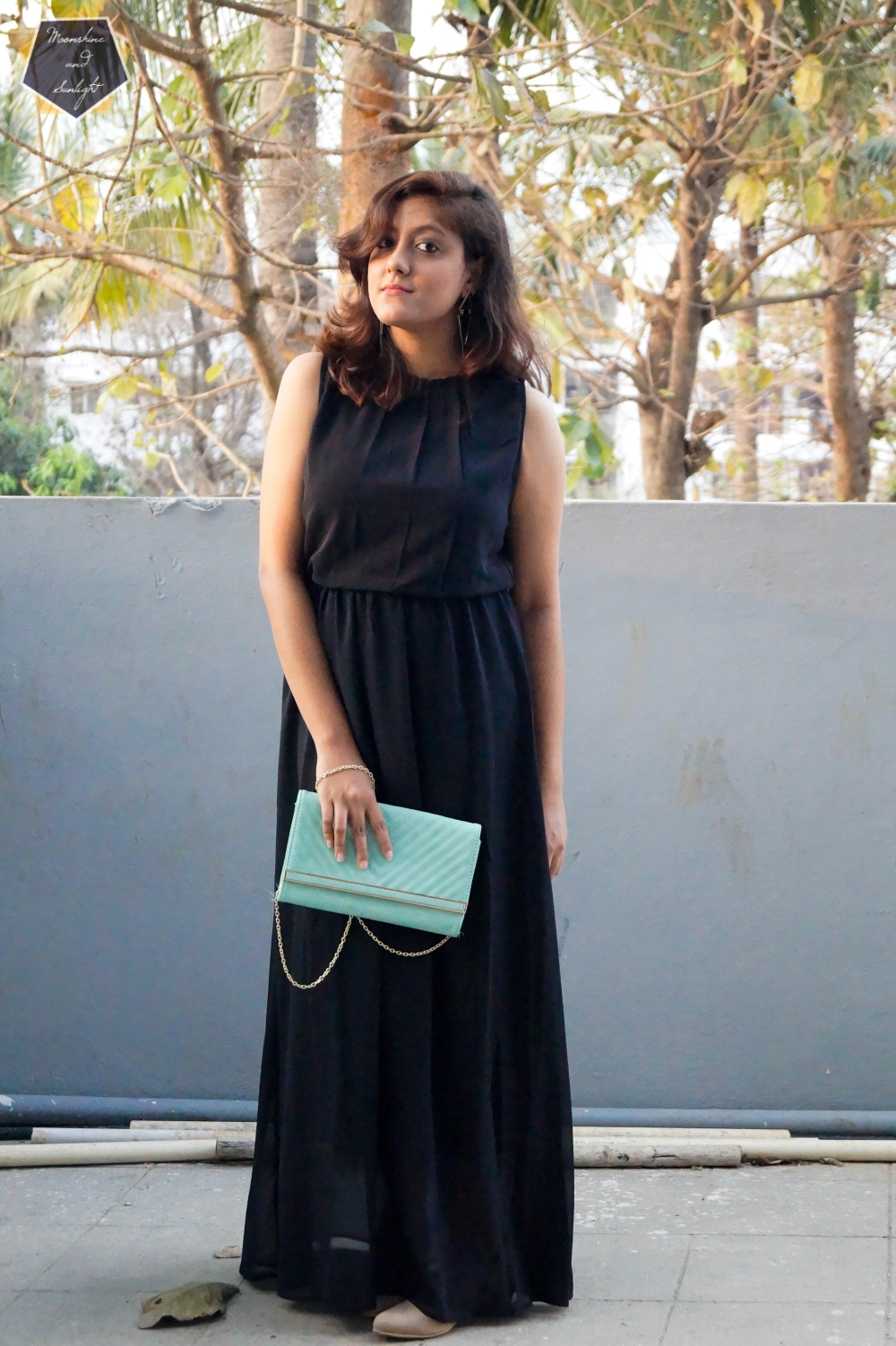Long Black Dress , bangalore fashion blogger